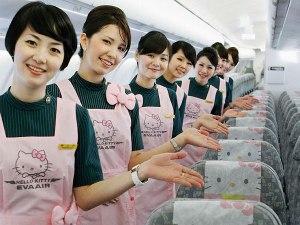 Hello Kitty flight attendants