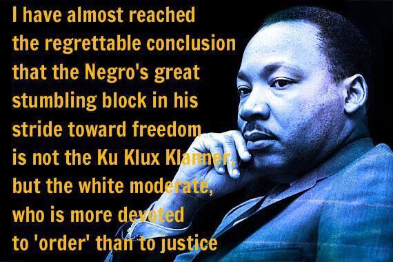 MLK - white moderates