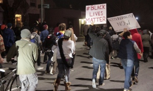Orderly protest march, black lives matter