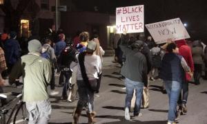 Orderly protest march, black lives matter