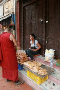 It was a Saturday morning stroll around Boudhanath. The warmth and joy of the Nepali people were a gift to experience.