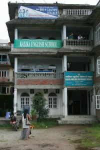 Kalika Secondary School in Bhaktapur, home for summer 2011 and one of the schools where we taught. Parts were still unbuilt. I fear what it looks like now.