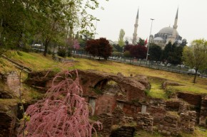 Istanbul's past, farther past, and present.