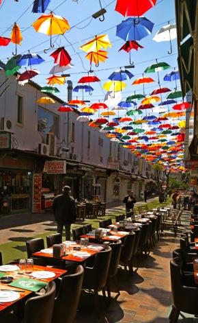 Antalya umbrella Turkey restaurant tourism