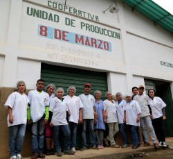 Venezuela pasta co-op staff