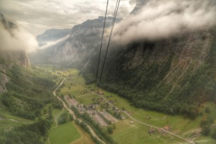 Ascending from Stechelberg to Gimmelwald