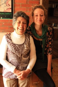 Nancy Calle (left), the founder and patron saint of Hogar Para Todos