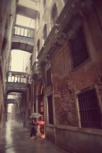 Venice rain, Veneto, Italy