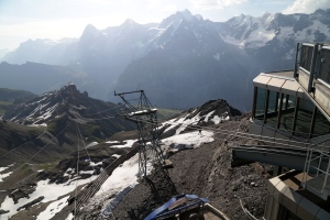 The cable car lines from the Schilthorn down to Birg, and that's the least impressive of the rides.