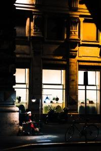 Chestnut vendor on Via Corso
