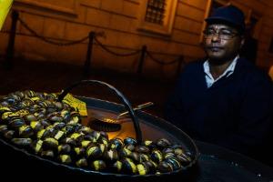 Chestnut vendors near the Spanish Steps