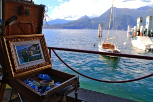 Lake Como, in art and on water bueno