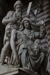 Italy Orvieto Pieta, agony of Mary