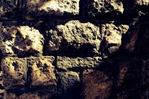 Italy Orvieto stone wall texture