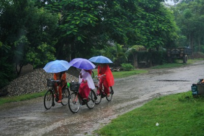 Nepal Chitwan monsoon bikers