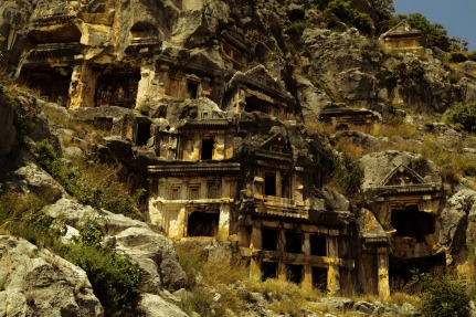 Hill tombs of Myra Turkey.jpg