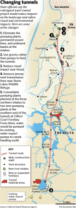 California delta tunnel project map