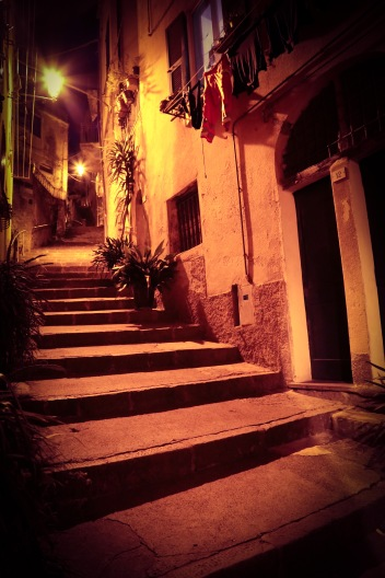 Warm Italian night in Monterosso, Cinque Terre