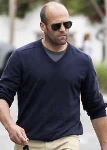 *EXCLUSIVE* Jason Statham has a late lunch in Malibu