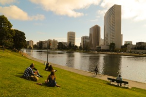 Lake Merritt Oakland looking good in the sun, Fairyland