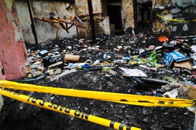 Panama City burned building interior