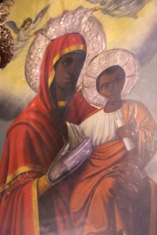 Athens black madonna with child
