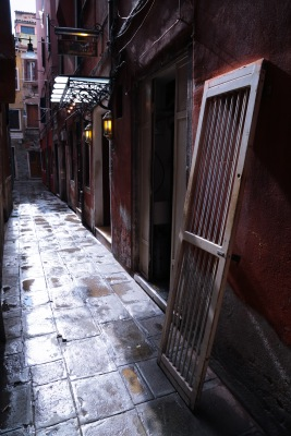 Door in a Venetian alley