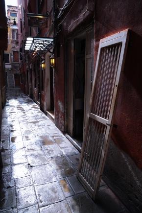 Door in a Venetian alley