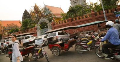 Cambodia walking