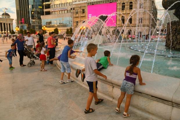 Skopje Macedonia Square fountain