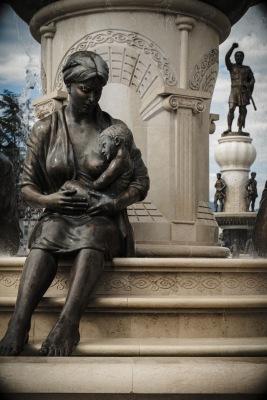 Skopje maternity fountain