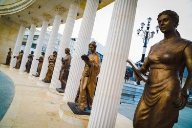 Skopje women statues