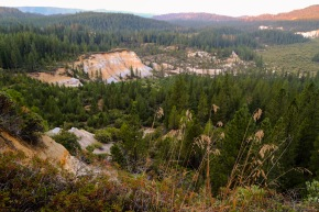 Yuba River camping valley
