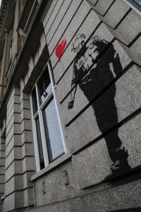 Banksy style in Amsterdam