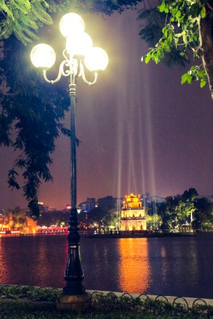 Hoan Kiem Lake looks good by any light, Hanoi