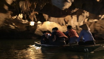 Inside the caves of Tam Coc