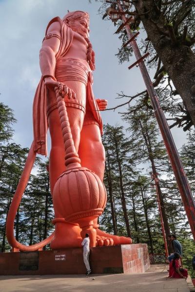 Hanuman above Shimla