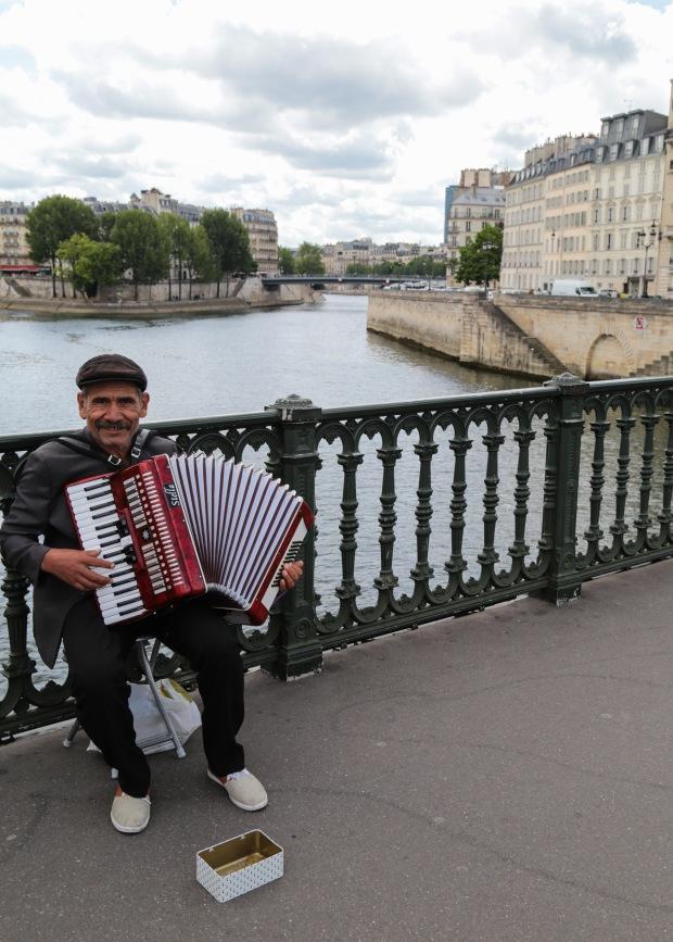 Paris accordion player