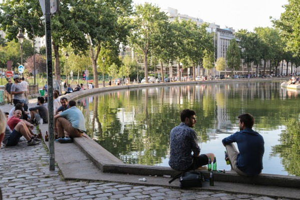 Paris street people canal