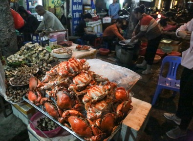Vietnam Hanoi street food crabs lighter