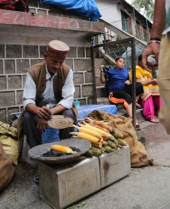 Dharamsala corn vendor