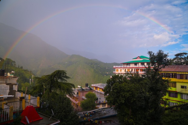 Mcleodganj view rainbow