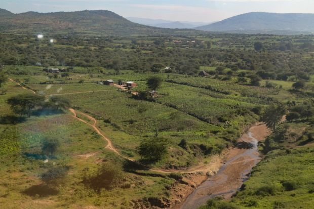 Kenyan countryside from the SGR train