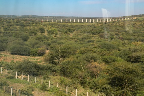 Kenya's SGR train elevated sections