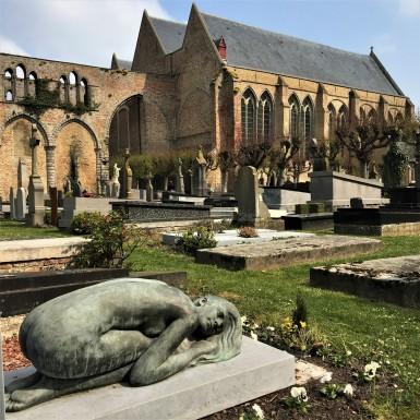 Churchyard in Damme, Belgium