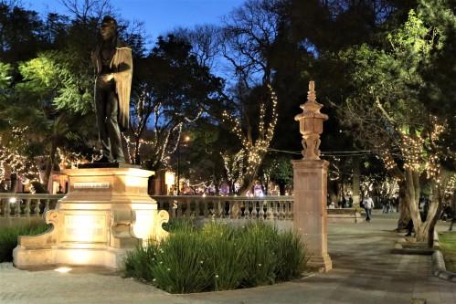 Zacatecas park at night