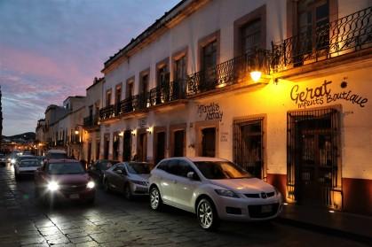 Zacatecas street in evening
